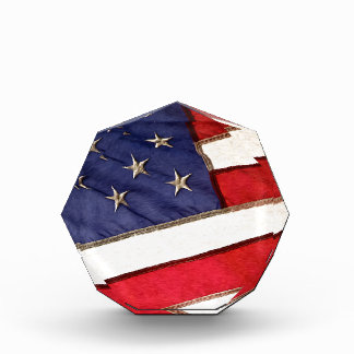 Patriotic American Flag Acrylic Award