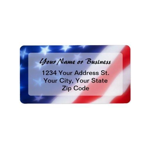 Patriotic American Flag Address Label