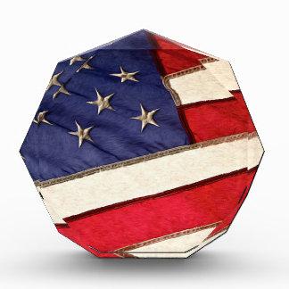 Patriotic American Flag Award