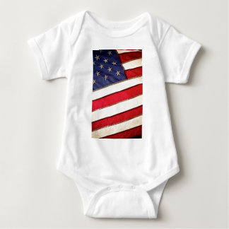 Patriotic American Flag Baby Bodysuit