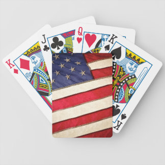 Patriotic American Flag Bicycle Playing Cards