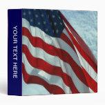 Patriotic American Flag Binder