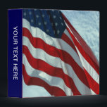"""Patriotic American Flag Binder<br><div class=""""desc"""">Can be personalized! An American Flag sets the mood for an album for all your patriotic memories or it is all perfect used as a distinguished binder for any business setting.</div>"""