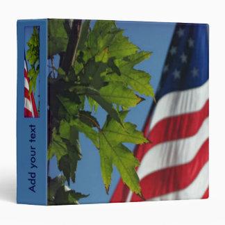 Patriotic American Flag Binder Vinyl Binders