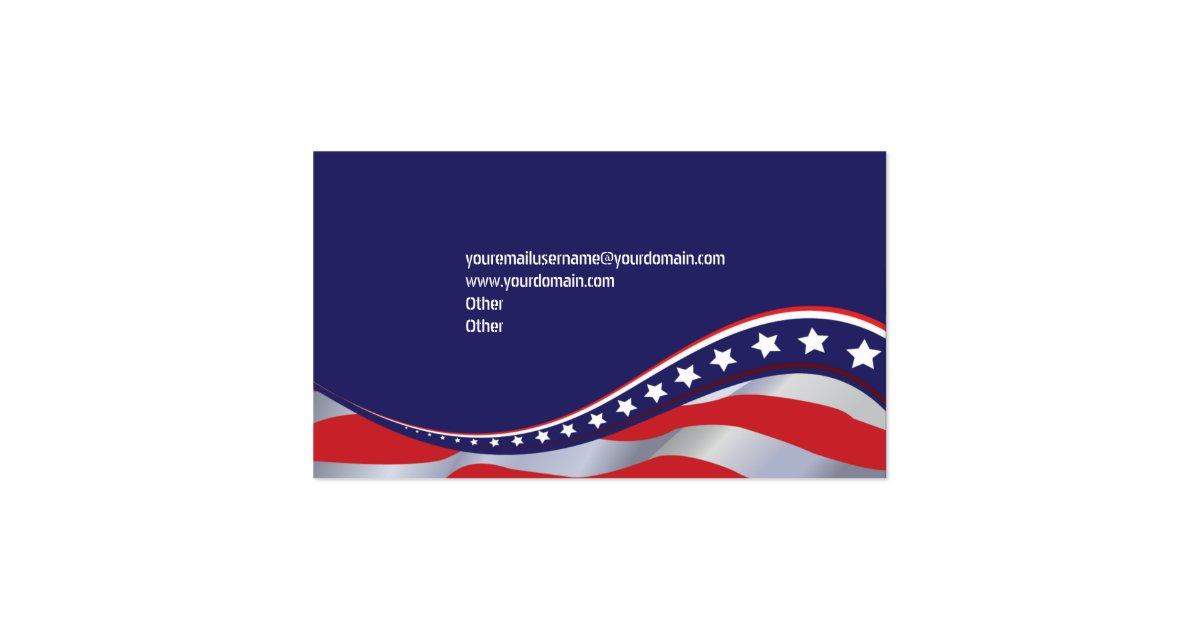 Patriotic american flag business card zazzle for American flag business cards