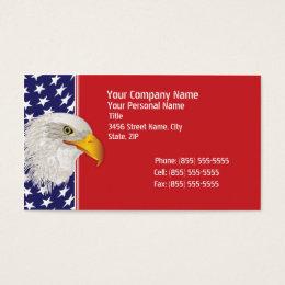 Patriotic American Flag Business Card