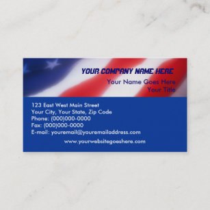 Political flags business cards templates zazzle patriotic american flag business cards reheart Images