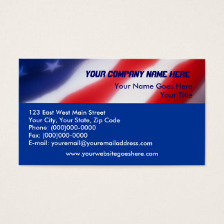 patriotic american flag business cards