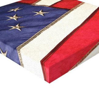 Patriotic American Flag Canvas Print