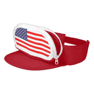 Patriotic American flag cap sac hat with wallet