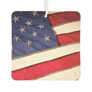 Patriotic American Flag Car Air Freshener