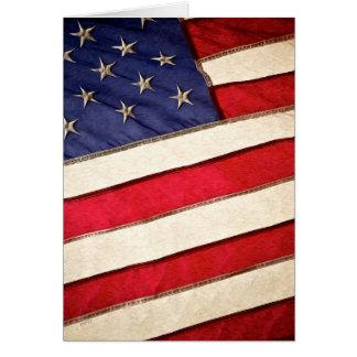 Patriotic American Flag Card