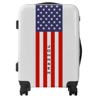 Patriotic American flag carry on luggage suitcase