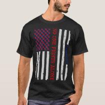 Patriotic American Flag CHD Awareness T-Shirt Tee