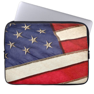 Patriotic American Flag Computer Sleeve