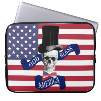 Patriotic American flag Computer Sleeves