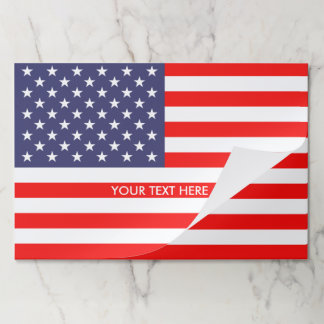 Patriotic American flag custom 4th of July Paper Placemat