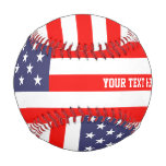 85056253b41c Patriotic American Flag Custom Baseball Sport Gift at Zazzle