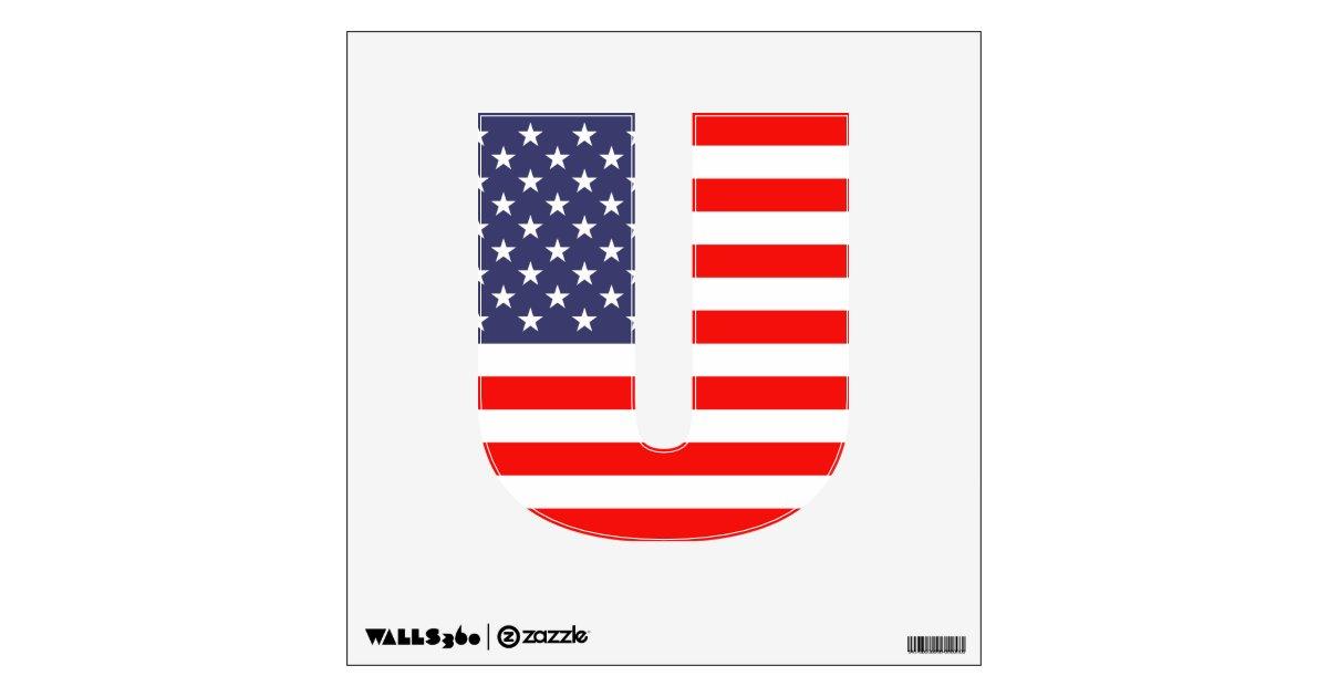 Patriotic American Flag Custom Cut Out