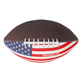 Patriotic American flag custom football sport gift