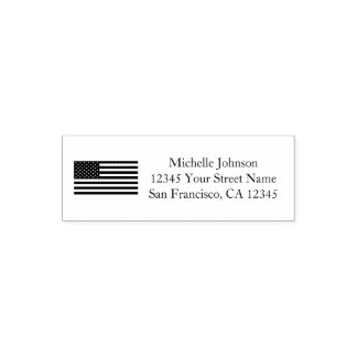 Patriotic American flag custom return address Self-inking Stamp