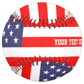 Patriotic American flag custom softball sport gift