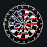 "Patriotic American flag dartboard design | Grungy<br><div class=""desc"">Patriotic American flag dartboard design 