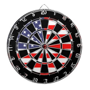 USA Themed Patriotic American flag dartboard design | Grungy