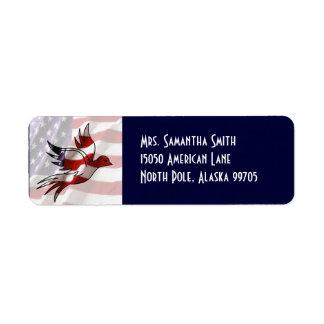Patriotic American Flag Dove Address Label