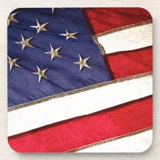 Patriotic American Flag Drink Coaster