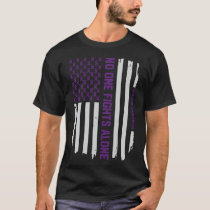 Patriotic American Flag Epilepsy Awareness T-Shirt