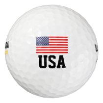Patriotic American flag golf ball set | USA pride