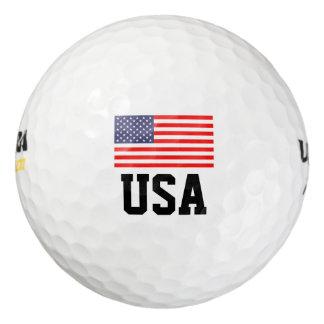 Patriotic American flag golf ball set   USA pride