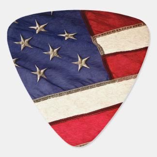 Patriotic American Flag Guitar Pick