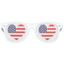 Patriotic American flag heart icon party shades