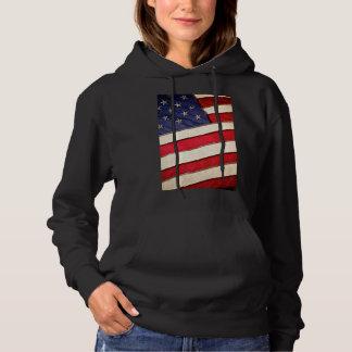 Patriotic American Flag Hoodie