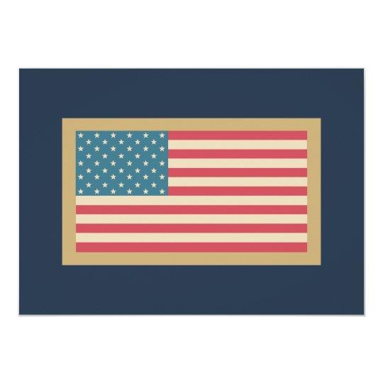 Patriotic American Flag Invitations