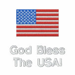 Patriotic American Flag Jacket, Personalize Embroidered Jackets