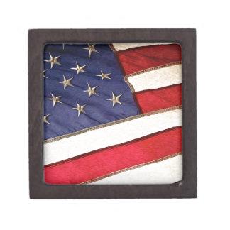 Patriotic American Flag Jewelry Box