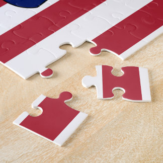 Patriotic American flag Jigsaw Puzzle