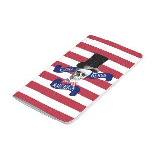 Patriotic American flag Journal
