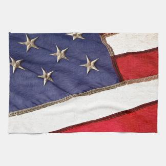 Patriotic American Flag Kitchen Towel
