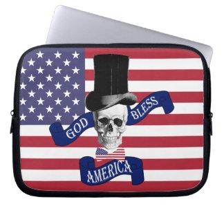 Patriotic American flag Laptop Computer Sleeve