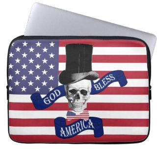 Patriotic American flag Laptop Sleeves