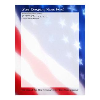 Patriotic American Flag Letterhead