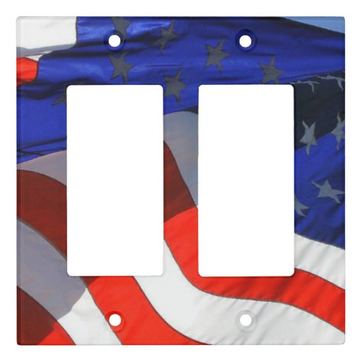 Patriotic American Flag Light Switch Cover