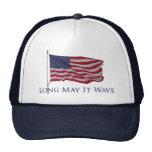 patriotic american flag   long may it wave hat
