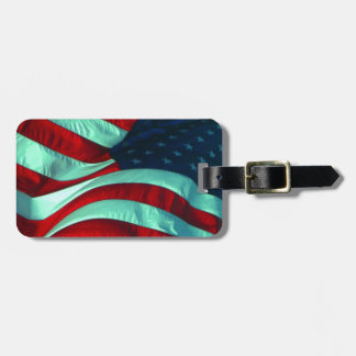 Patriotic American Flag Bag Tags