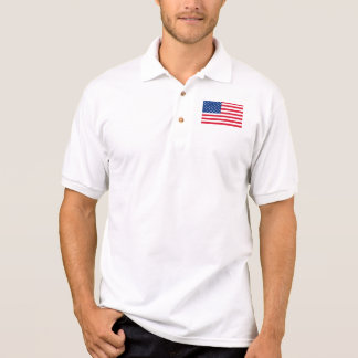 Patriotic American Flag Men's Polo Shirt