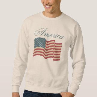 Patriotic American Flag Men's Shirt Sweatshirt